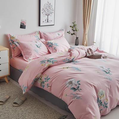 2020新款-13374全棉系列单件枕套 48cmX74cm/对 云想衣-粉