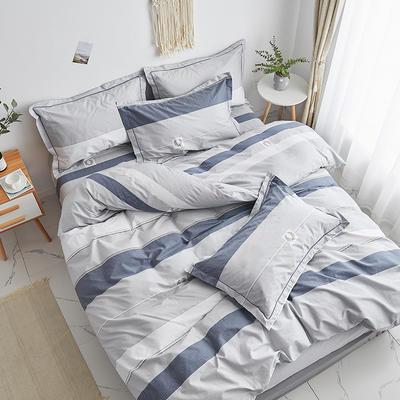 2020新款-13374全棉系列单件枕套 48cmX74cm/对 追梦-灰