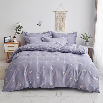 2020新款-13374全棉系列四件套 床单款三件套1.2m(4英尺)床 爱的告白