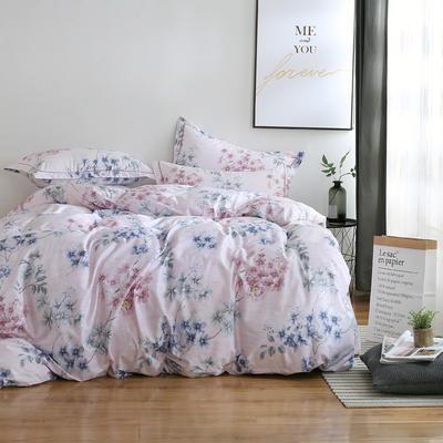 2020新款-13374全棉系列四件套 床单款三件套1.2m(4英尺)床 红袖里