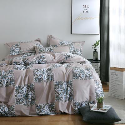 2020新款-13374全棉系列四件套 床单款三件套1.2m(4英尺)床 加洛林