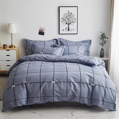 2020新款-13374全棉系列四件套 床单款三件套1.2m(4英尺)床 卡尔特-灰