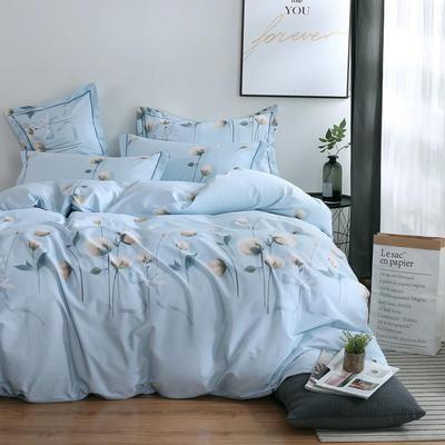 2020新款-13374全棉系列四件套 床单款三件套1.2m(4英尺)床 露华浓-兰