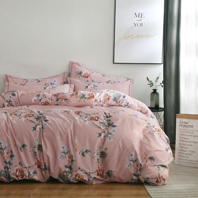 2020新款-13374全棉系列四件套 床单款三件套1.2m(4英尺)床 梦迟迟-粉