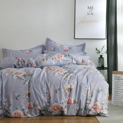 2020新款-13374全棉系列四件套 床单款三件套1.2m(4英尺)床 梦迟迟-灰