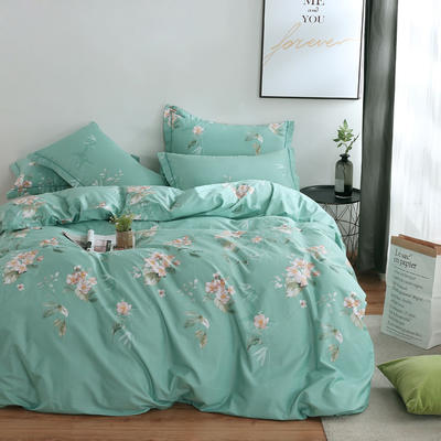 2020新款-13374全棉系列四件套 床单款三件套1.2m(4英尺)床 念奴娇