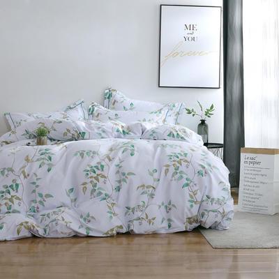 2020新款-13374全棉系列四件套 床单款三件套1.2m(4英尺)床 沁园春