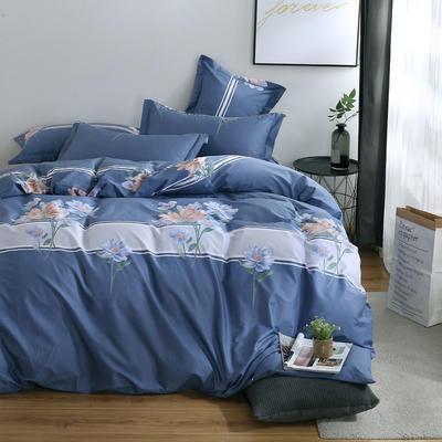 2020新款-13374全棉系列四件套 床单款三件套1.2m(4英尺)床 如花盛开