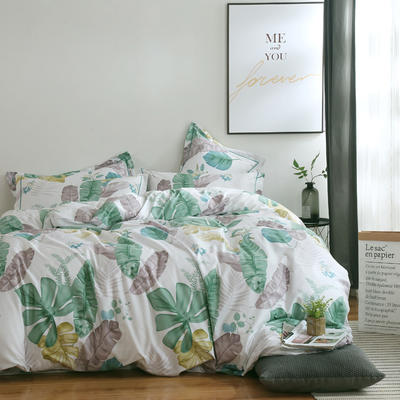 2020新款-13374全棉系列四件套 床单款三件套1.2m(4英尺)床 未央