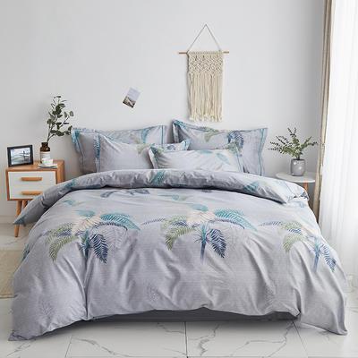 2020新款-13374全棉系列四件套 床单款三件套1.2m(4英尺)床 夏威夷之恋-灰