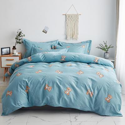 2020新款-13374全棉系列四件套 床单款三件套1.2m(4英尺)床 小熊先生