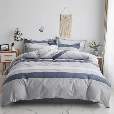 2020新款-13374全棉系列四件套 床单款三件套1.2m(4英尺)床 追梦-灰