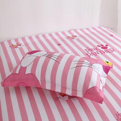 2020新款-13070单枕套 48cmX74cm/一对 粉红豹