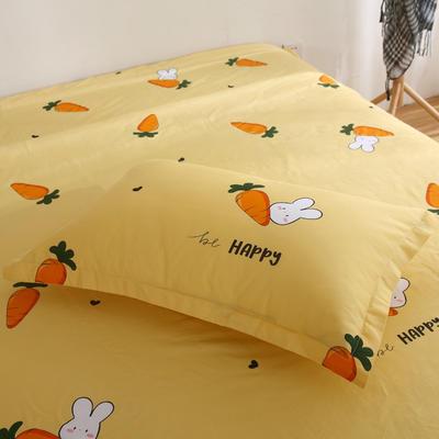 2020新款-13070单枕套 48cmX74cm/一对 萝卜兔
