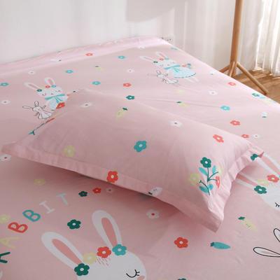 2020新款-13070单枕套 48cmX74cm/一对 三月兔