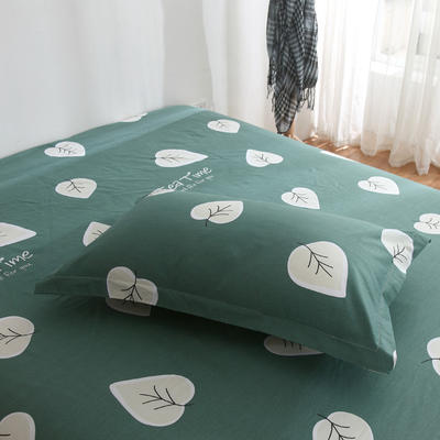 2020新款-13070单枕套 48cmX74cm/一对 下午茶-绿