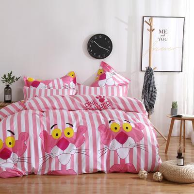 2020新款-13070四件套 床单款三件套1.2m(4英尺)床 粉红豹