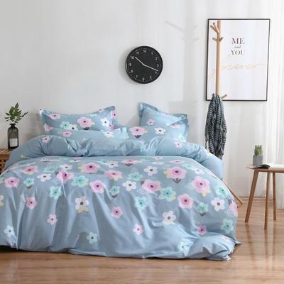 2020新款-13070四件套 床单款三件套1.2m(4英尺)床 花影芳菲-兰