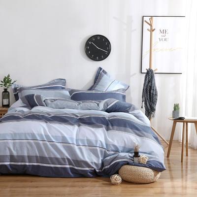 2020新款-13070四件套 床单款三件套1.2m(4英尺)床 灰色轨迹