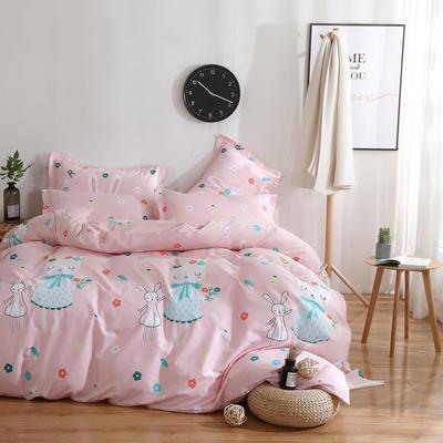 2020新款-13070四件套 床单款三件套1.2m(4英尺)床 三月兔