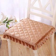 2017 新款金丝绒方垫 40*42 向阳花开米色沙餐椅垫