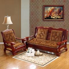 2018新款-高档长毛绒沙发坐垫 单人52*52cm 咖啡