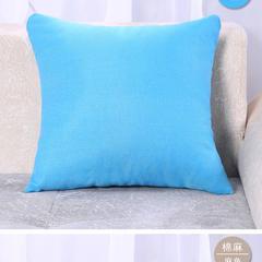 棉麻抱枕 45x45cm 天蓝色