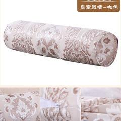 提花圆枕(15*40) 皇室风情咖色