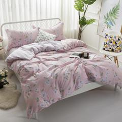 寐怡家纺 全棉活性印染床上用品四件套 13372纯棉套件 新品上市 1.8m(6英尺)床 甜蜜之旅-红