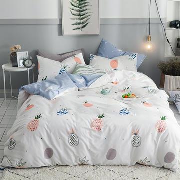 13372全棉印花四件套 1.2m(4英尺)三件套床单款 萝莉