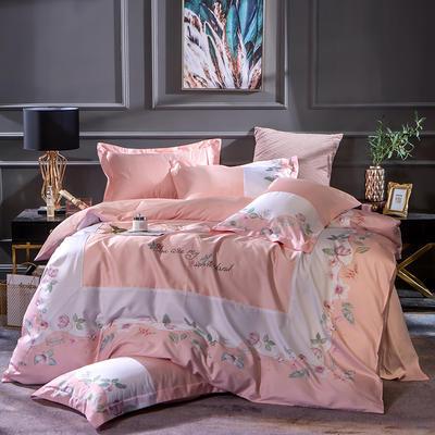 2019新款-美式60长绒棉印加绣系列四件套 1.8m(6英尺)床 苏菲娜拉