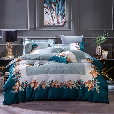 2019新款-美式60长绒棉数码印花拼框四件套 1.8m(6英尺)床 布鲁克林