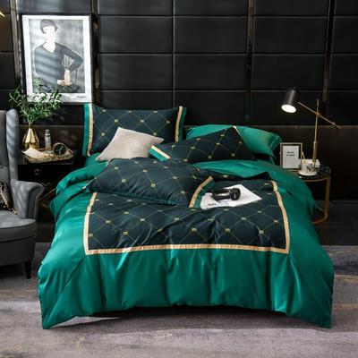 2019新款-美式60长绒棉数码印花拼框四件套 1.8m(6英尺)床 锦绣华梦