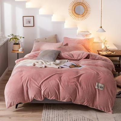 2019新款-织标款素色法莱绒四件套 床单款三件套1.2m(4英尺)床 卡尔豆沙
