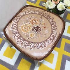 高精密提花椅子垫(国色天香) 47*47cm 国色天香-咖