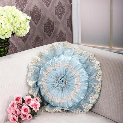 2018新款圆枕-太阳花抱枕ok 直径40含芯/一个 太阳花蓝色