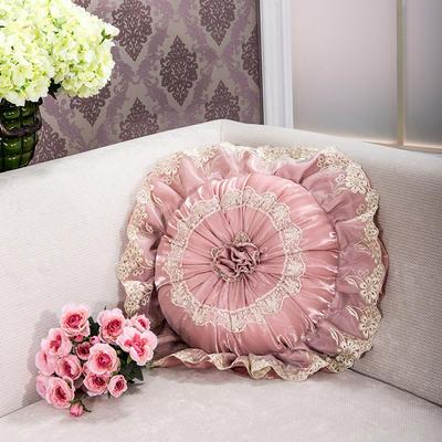 2018新款圆枕-太阳花抱枕ok 直径40含芯/一个 太阳花粉色