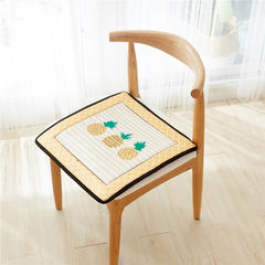 2018新款-天鹅绒椅子垫ok 43*43cm 菠萝