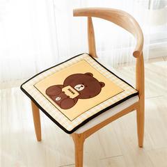 2018新款-天鹅绒椅子垫ok 43*43cm 大头熊