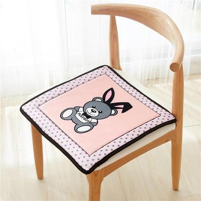 2018新款-天鹅绒椅子垫ok 43*43cm 兔子熊