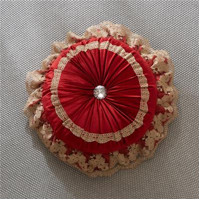 2018新款-安娜圆枕ok 45*45cm/含芯 红色