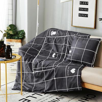2018新款抱枕被-纳米印花抱枕被ok 小号40*40打开105*145 格调