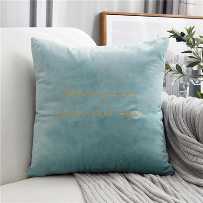2018新款-意大利轻奢长款抱枕 45cm*45cm不含芯 水蓝色