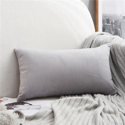 2018新款-意大利轻奢长款抱枕 30cm*50cm不含芯 磨岩灰 长枕