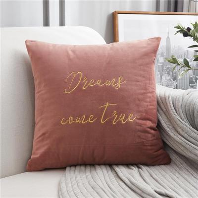 2018新款-意大利轻奢方形抱枕 45cm*45cm不含芯 豆沙粉