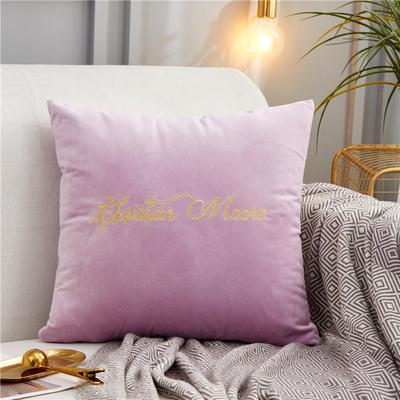2019新款-轻奢金线抱枕ok 28*48 抱枕亮紫色