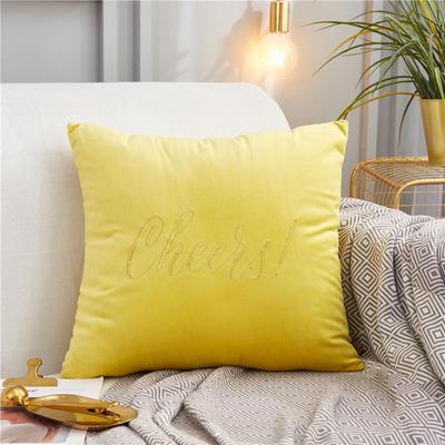 2019新款-轻奢金线抱枕ok 28*48 抱枕柠檬黄