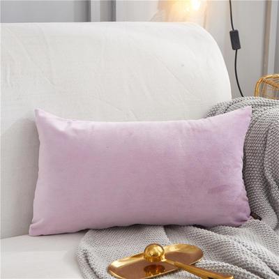 2019新款-轻奢金线抱枕ok 28*48 腰枕亮紫色