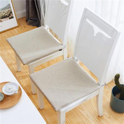 2019新款-日式棉麻坐垫ok 40X40cm 米驼