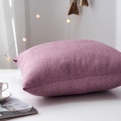 2019新款-回字尼抱枕ok 40*40cm皮子 葡萄紫